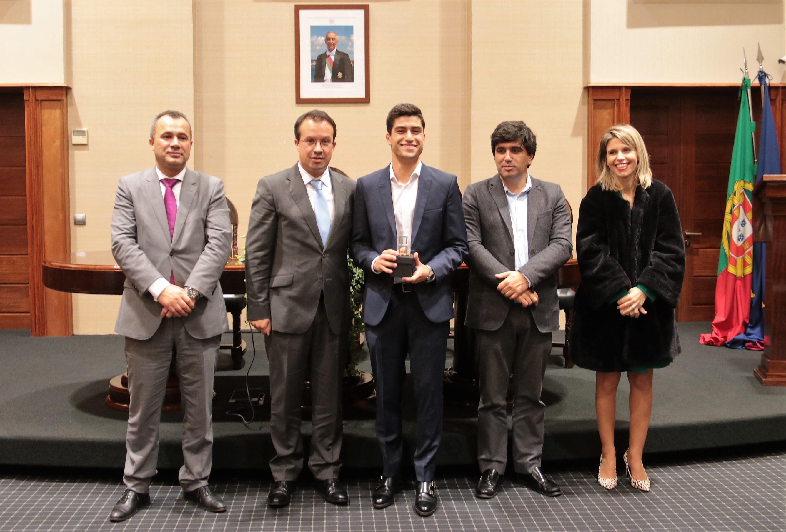 Tiago Teixeira recebido na Câmara Municipal de Paredes